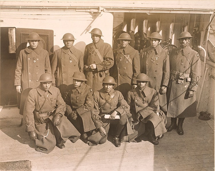 Recipients of the Croix de Guerre from the 370th Infantry, 1919 - NATIONAL ARCHIVES-COLLEGE PARK