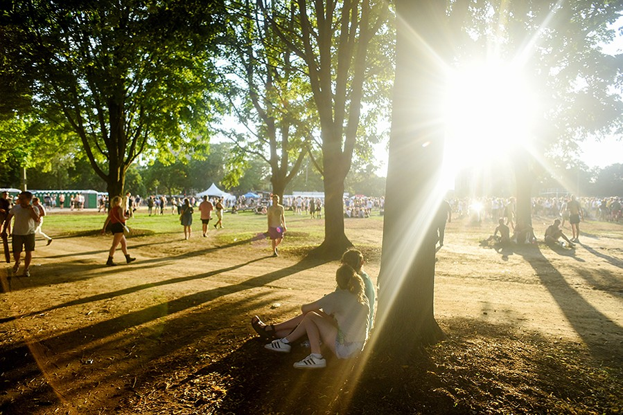 July 21, 2019: Attendees wander through the trees while attending the Pitchfork Music Festival in Union Park. - KATHLEEN HINKEL