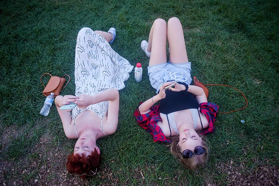 July 19, 2019: Attendees taking a break from the action at the Pitchfork Music Festival in Union Park - KATHLEEN HINKEL