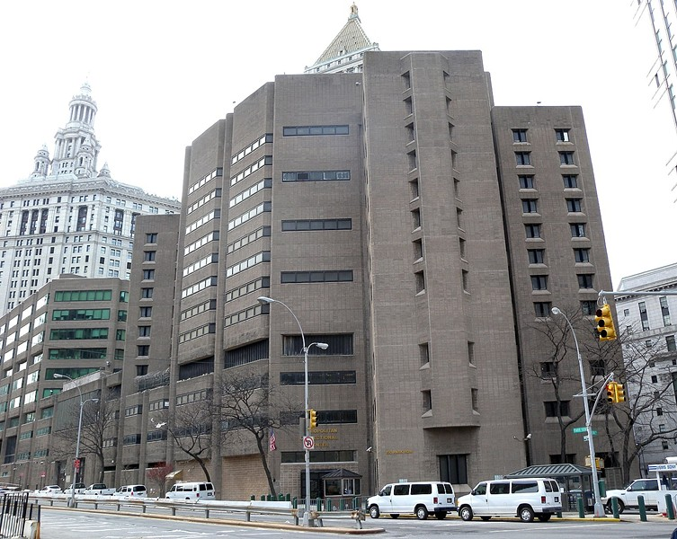 The Metropolitan Correctional Center in New York, where Jeffrey Epstein was found dead in his cell last month. - JIM HENDERSON