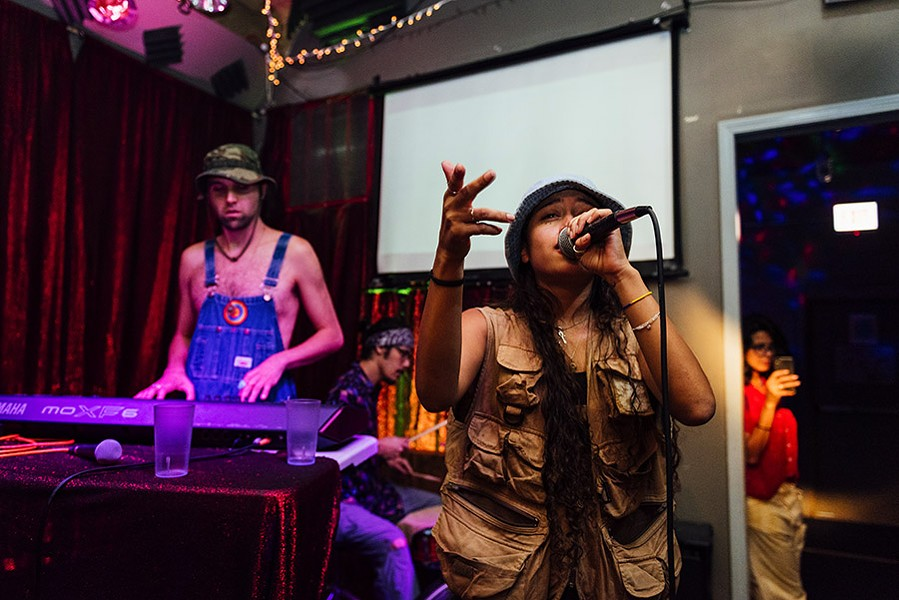 Vocalist Sonia Morant performs at Open Beats with producer CoryaYo. - ALLISON ZIEMBA FOR CHICAGO READER