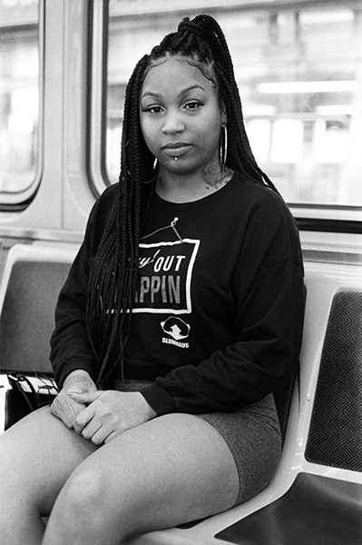 Layla Marie on her way to school at Malcolm X College - W.D. FLOYD FOR CHICAGO READER