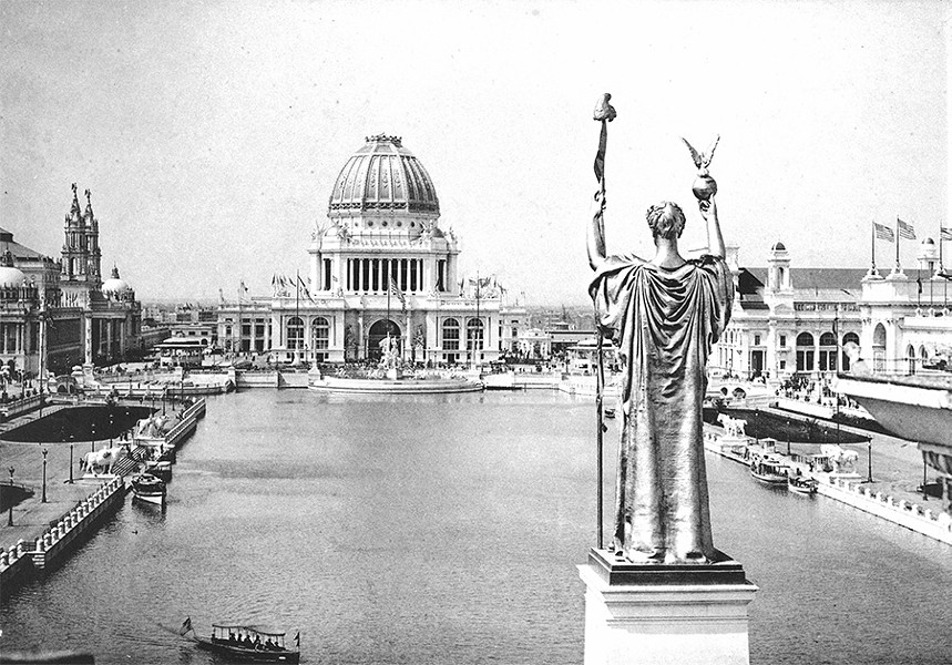 Looking west over the Grand Basin of the 1893 World's Columbian Exposition - C. D. ARNOLD