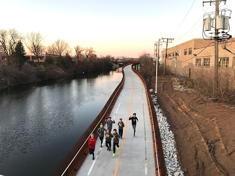 The Riverview Bridge, near Lane Tech high school, is said to sound like a bass harmonica when the wind hits it just right. - JOHN GREENFIELD