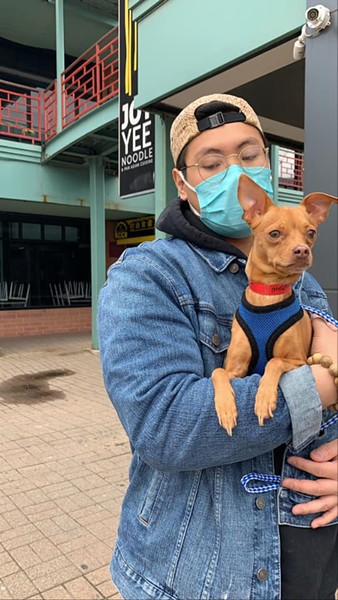 Applications to foster and adopt dogs like Rusty, who provide a state-approved reason to be outside, have been particularly high. - COURTESY ANTI-CRUELTY SOCIETY