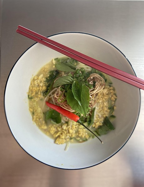 Nom bachok, made with rice noodles and whitefish - COURTESY ETHAN LIM
