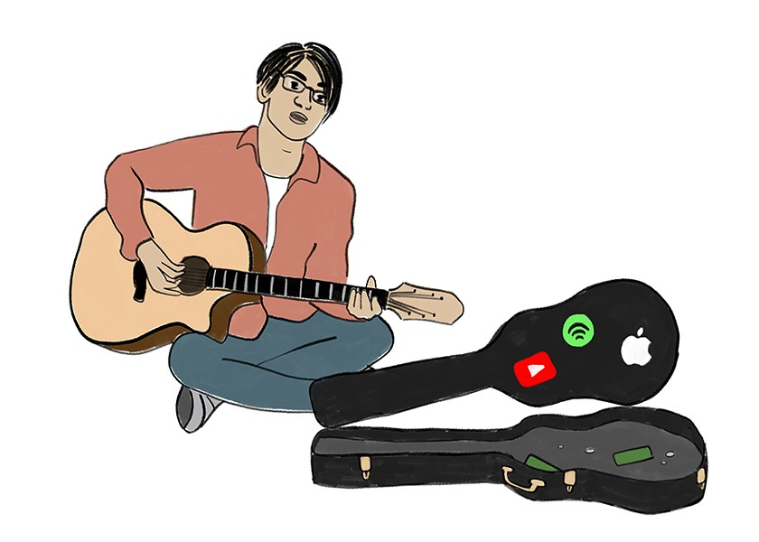 For many niche artists, revenue from streaming is negligible. But the user bases of streaming services also represent huge numbers of potential new fans. - ILLUSTRATION BY RACHEL HAWLEY