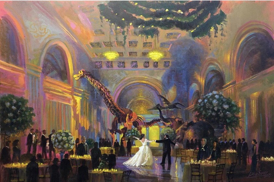 Lothar Speer now makes a living with several artistic ventures, including live painting weddings. - COURTESY LOTHAR SPEER