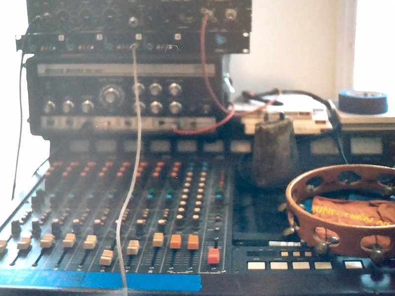 A portion of Bless the Mad's recording setup in Ibrahem Hasan's home studio, photographed in 2019 - COURTESY BLESS THE MAD