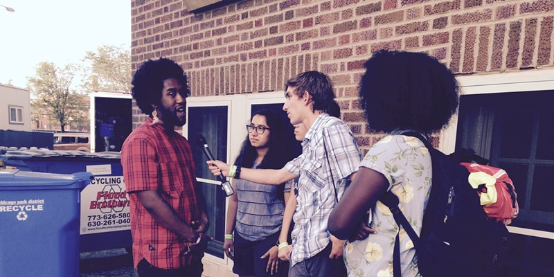 826Chi students interview Peter Cottontale.