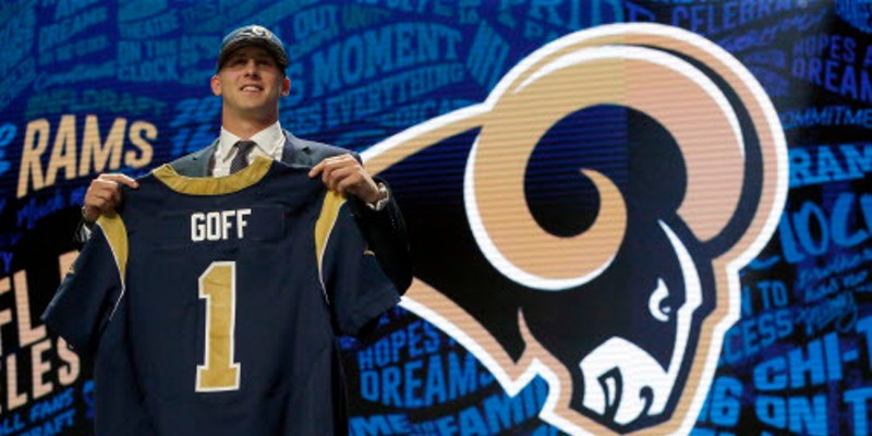 Jared Goff essentially became a multimillionaire when the Rams called his name Thursday night.