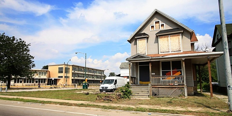 A abandoned house in Englewood photographed in 2013