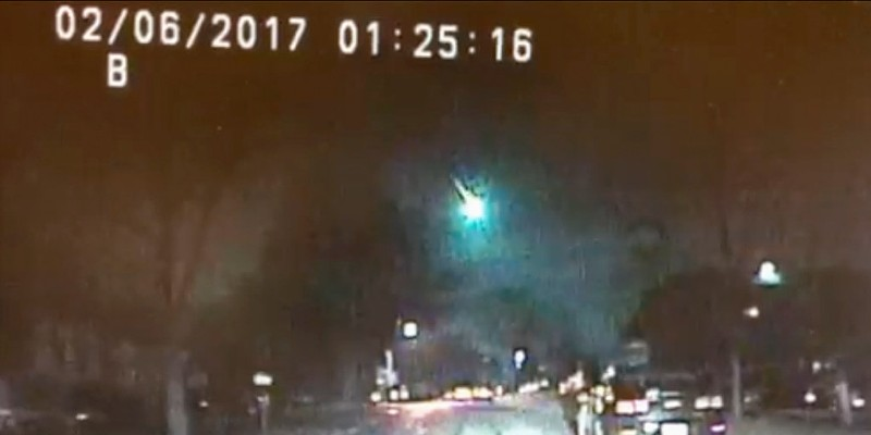 Dashcam video of the meteor courtesy of the Lisle Police Department