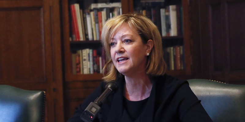State representative Jeanne Ives meets with the Chicago Tribune Editorial Board January 29.