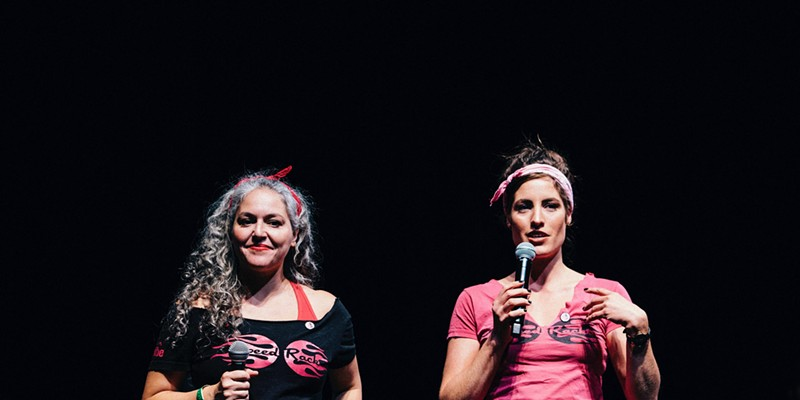Lynnette Marrero (left) and Ivy Mix