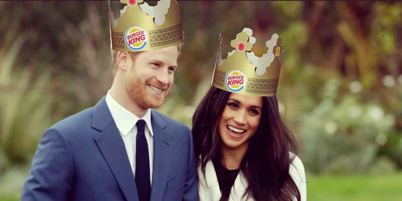 Prince Harry and his betrothed, Meghan Markle, have inspired a special at Burger King.