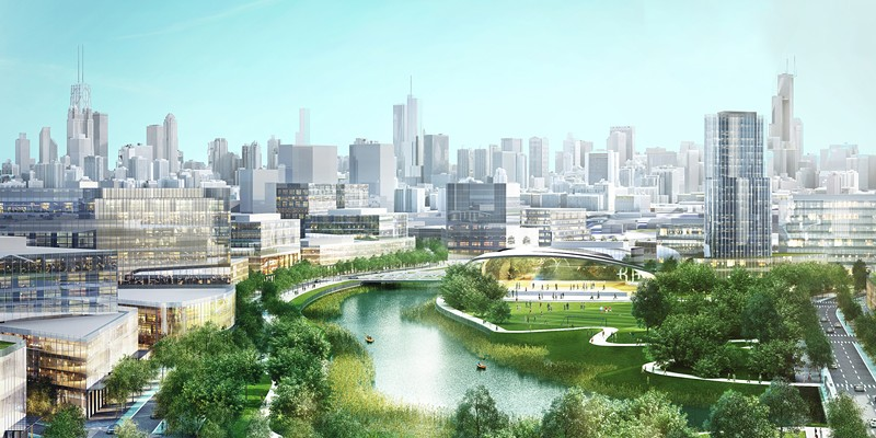 Sterling Bay's proposed $5 billion redevelopment of roughly 70 acres along the Chicago River between North and Webster