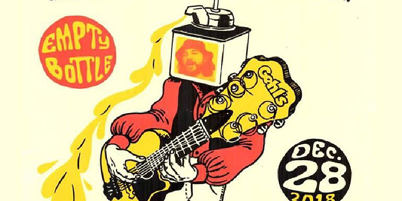A guitar transfigured into liquid cheese on the gig poster of the week