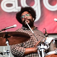 Chance the Rapper, Donnie Trumpet, and the Roots at Taste of Chicago Questlove, drummer and leader of the Roots. Bobby Talamine