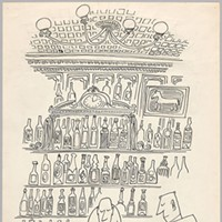 """Along the Lines: Selected Drawings by Saul Steinberg Untitled (Bar Scene), 1945