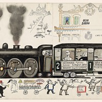 """Along the Lines: Selected Drawings by Saul Steinberg B Movie, 1948 Gift of the Saul Steinberg Foundation"