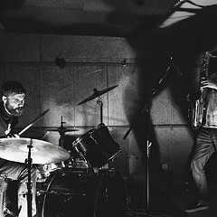 Aggressive sax-drum duos Dead Neanderthals and Burning Tree play Elastic