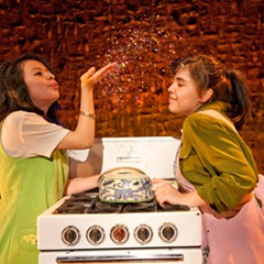 Gissela Gualoto and Stephany Perez in Albany Park Theater Project's 2010 production of Feast at Goodman Theatre.