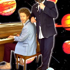 Levitan and Costello and piano in space
