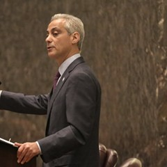Mayor Rahm at the pulpit