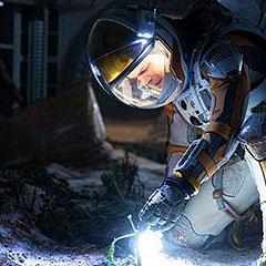 Matt Damon is alone on Mars and having the time of his life