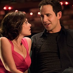 Rebecca (Rachel Bloom) convincing her ex's friend Greg (Santino Fontana) that's she's, like, so not crazy.