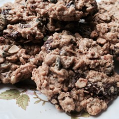 JeanMarie Brownson's Chocolate Cherry Peanut Butter Oatmeal Cookies