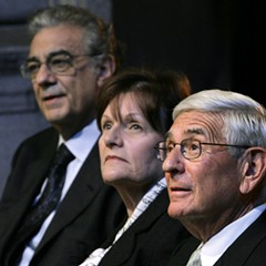 Edythe and Eli Broad, center and right, are major donors to American charter schools—and to education coverage in the LA Times.
