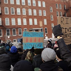 Protesters at a February 2015 rally call for the closing of Homan Square.