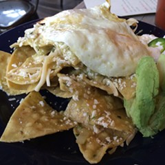Chilaquiles at Rojo Gusano