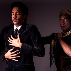 Zach Nichol as Faustus and Darling Squire as Envy