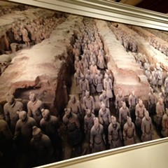 A picture of the soldiers in their natural habitat. A wooden ceiling fell on the soldier pit, shattering most of the statues, which have since been reassembled by conservators.