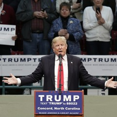 Donald Trump, speaking Monday at a rally in Concord, North Carolina.
