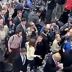 CCTV video footage released by Florida police shows Breitbart's Michelle Fields, center left, and her encounter with Trump campaign manager Corey Lewandowski.
