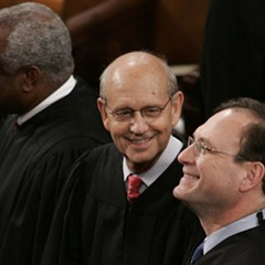 Left to right: U.S. Supreme Court Justices Clarence Thomas, Stephen Breyer, and Samuel Alito.