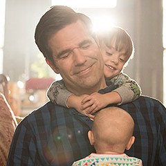 Rob Delaney and Sharon Horgan make each other (and the audience) laugh on Amazon's Catastrophe