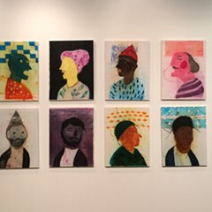 Orkideh Torabi's portraits are a standout in this year's SAIC MFA show.