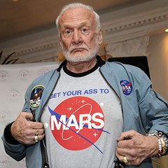 Buzz Aldrin talks with Christina Korp at Printers Row Lit Fest on Sun 6/12.