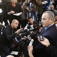 Dean Angelo, president of Fraternal Order of Police Lodge 7, talks to reporters after a November 2015 bond hearing for officer Jason Van Dyke.