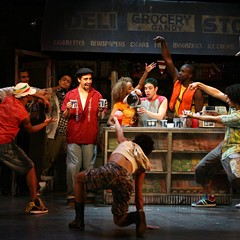 Lin-Manuel Miranda, fourth from left, and the cast of the 2007 off-Broadway production of In the Heights