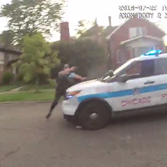 Video released Friday shows a Chicago police officer firing at a car driven by 18-year-old Paul O'Neal. O'Neal later died from his wounds.
