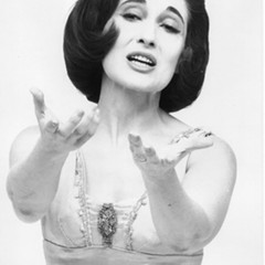 Sulie Harand performing in her one-woman show in the 1940s.