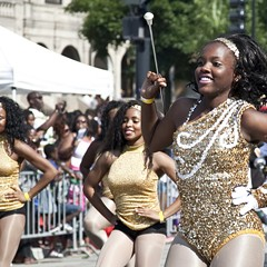 The Jones College Prep High School marching band performing in the 2014 Bud Billiken Parade
