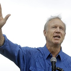 Governor Bruce Rauner at the Illinois State Fair Friday