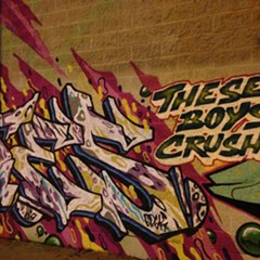 Part of the graffiti brightening up Logan Square's Discount Megamall